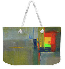 Weekender Tote Bag featuring the painting Color Window Abstract by Nancy Merkle