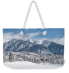 Weekender Tote Bag featuring the photograph Colorad Winter Wonderland by Darren White