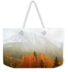 Colorado Aspen Trees Mountain Dreamy Landscape Weekender Tote Bag by Andrea Hazel Ihlefeld