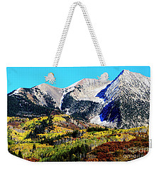 Colorado Autumn 2016 West Elk Mountains Weekender Tote Bag