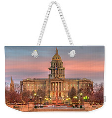 Weekender Tote Bag featuring the photograph Colorado Capital by Gary Lengyel
