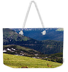 Colorado Elk Weekender Tote Bag by Marilyn Hunt