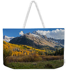 Weekender Tote Bag featuring the photograph Colorado Fall by Steven Reed