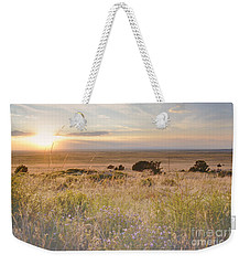 Colorado Field Sunset Landscape Weekender Tote Bag by Andrea Hazel Ihlefeld