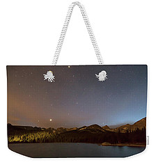 Weekender Tote Bag featuring the photograph Colorado Indian Peaks Stellar Night by James BO Insogna