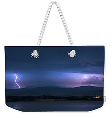 Weekender Tote Bag featuring the photograph Colorado Rocky Mountain Foothills Storm by James BO Insogna