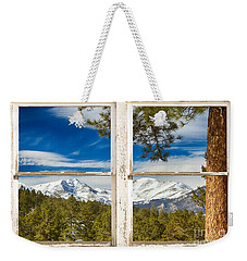 Colorado Rocky Mountain Rustic Window View Weekender Tote Bag