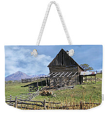 Colorado Rocky Mountain Vintage Barn   Weekender Tote Bag