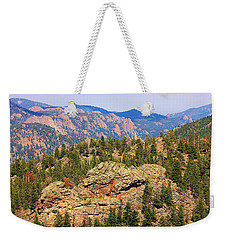 Weekender Tote Bag featuring the photograph Colorado Rocky Mountains by Sheila Brown