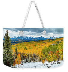 Colorado Valley Of Autumn Color Weekender Tote Bag by Teri Virbickis