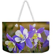 Colorado Wildflower Blue Columbines Weekender Tote Bag
