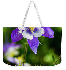 Colorado Wildflower Columbines Weekender Tote Bag by Teri Virbickis