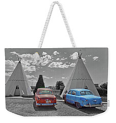 Colored Cars And Tee Pee Motel--holbrook Weekender Tote Bag