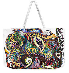 Colored Cultural Zoo D Version 2 Weekender Tote Bag by Melinda Dare Benfield