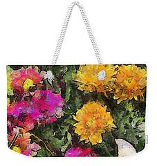 Colored Flowers Weekender Tote Bag