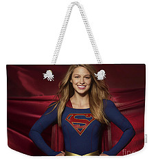 Colored Pencil Study Of Supergirl - Melissa Benoist Weekender Tote Bag