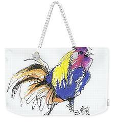 Colored Rooster Weekender Tote Bag