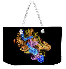 Weekender Tote Bag featuring the photograph Colored Vapors by Rikk Flohr