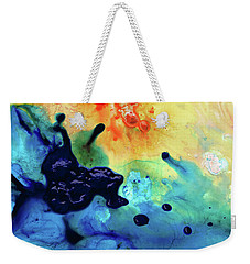 Colorful Abstract Art - Blue Waters - Sharon Cummings Weekender Tote Bag by Sharon Cummings