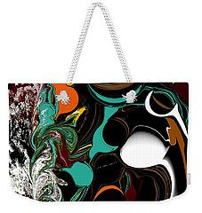Colorful Abstract Weekender Tote Bag by Jessica Wright