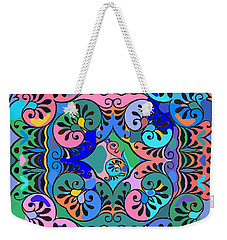 Colorful Abstract Ornaments Design  Weekender Tote Bag