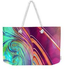 Colorful Abstract Painting Weekender Tote Bag by Gabriella Weninger - David