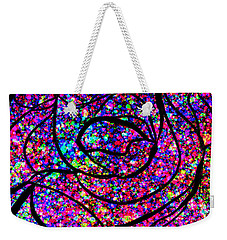 Weekender Tote Bag featuring the digital art Colorful Abstract Rose  by Cristina Stefan