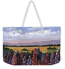 Weekender Tote Bag featuring the painting Colorful Afternoon by Anastasiya Malakhova