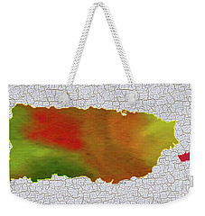 Colorful Art Puerto Rico Map Weekender Tote Bag