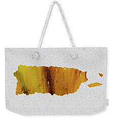Colorful Art Puerto Rico Map Yellow Brown Weekender Tote Bag