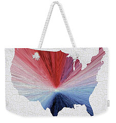 Colorful Art Usa Map Blue, Red And White Weekender Tote Bag