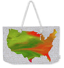 Colorful Art Usa Map Weekender Tote Bag