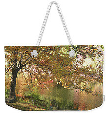 Colorful Autumn Under Glass Weekender Tote Bag