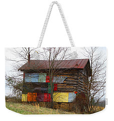 Colorful Barn Weekender Tote Bag by Kathryn Meyer