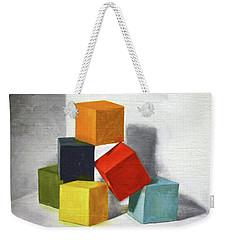 Colorful Blocks Weekender Tote Bag