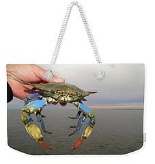Colorful Blue Crab Weekender Tote Bag