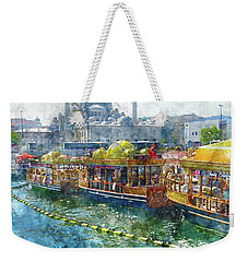 Colorful Boats In Istanbul Turkey Weekender Tote Bag