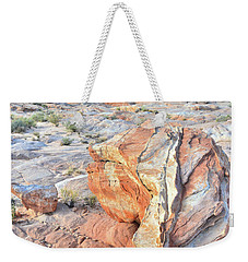 Colorful Boulder At Valley Of Fire Weekender Tote Bag