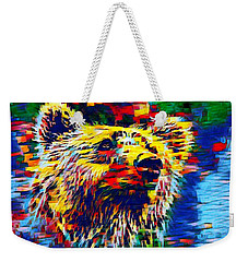 Colorful Brown Bear Weekender Tote Bag