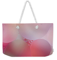 Weekender Tote Bag featuring the photograph Colorful Bubbles 2 by Elena Nosyreva