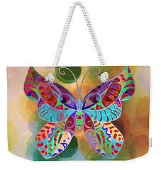 Colorful Butterfy Abstract Painting Weekender Tote Bag by Gabriella Weninger - David