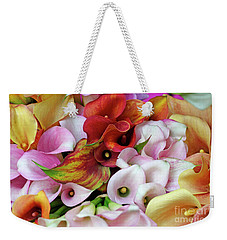 Colorful Calla Lilies Weekender Tote Bag