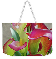 Colorful Calla Lillies Weekender Tote Bag