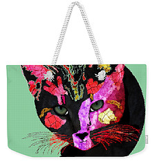 Colorful Cat Abstract Artwork By Claudia Ellis Weekender Tote Bag