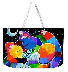 Colorful Cat In The Moonlight Weekender Tote Bag