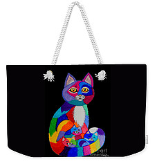 Colorful Cats And Kittens Weekender Tote Bag by Nick Gustafson