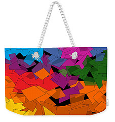 Weekender Tote Bag featuring the digital art Colorful Chaos Two by Val Arie