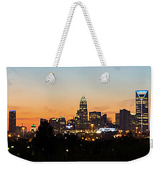 Colorful Charlotte, North Carolina Weekender Tote Bag by Serge Skiba