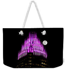 Weekender Tote Bag featuring the photograph Colorful Charlotte Skyline by Serge Skiba
