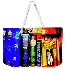 Weekender Tote Bag featuring the photograph Colorful Classics by Toni Hopper